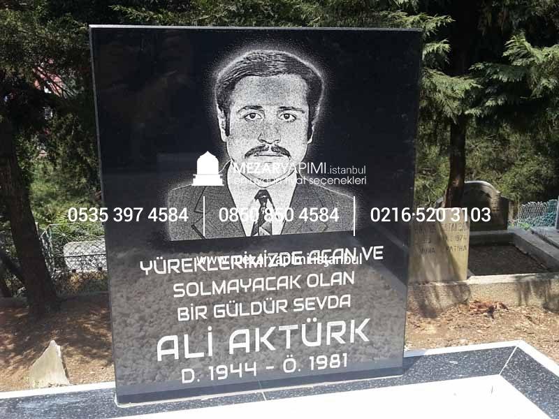 Mezar Taşı üzerine Lazer Resim Mezar Yapımı Istanbul