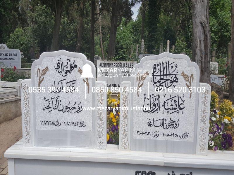 El Işçiliği Yapımı özel Koltuk Işlemeli Mezar Taşı Modeli Mezar