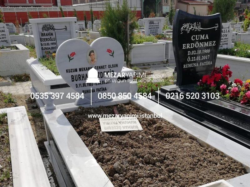 özel Tasarım Kalp şeklinde Mezar Taşı Modeli Mezar Yapımı Istanbul